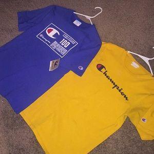 Two champion shirts